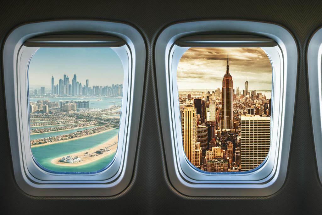 Viajar en avión, Vistas desde el avión