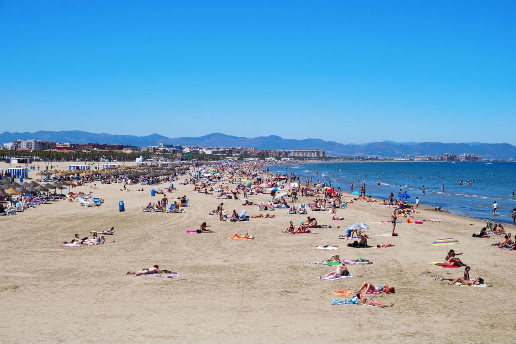 Viajar a Valencia, Playa Malvarrosa