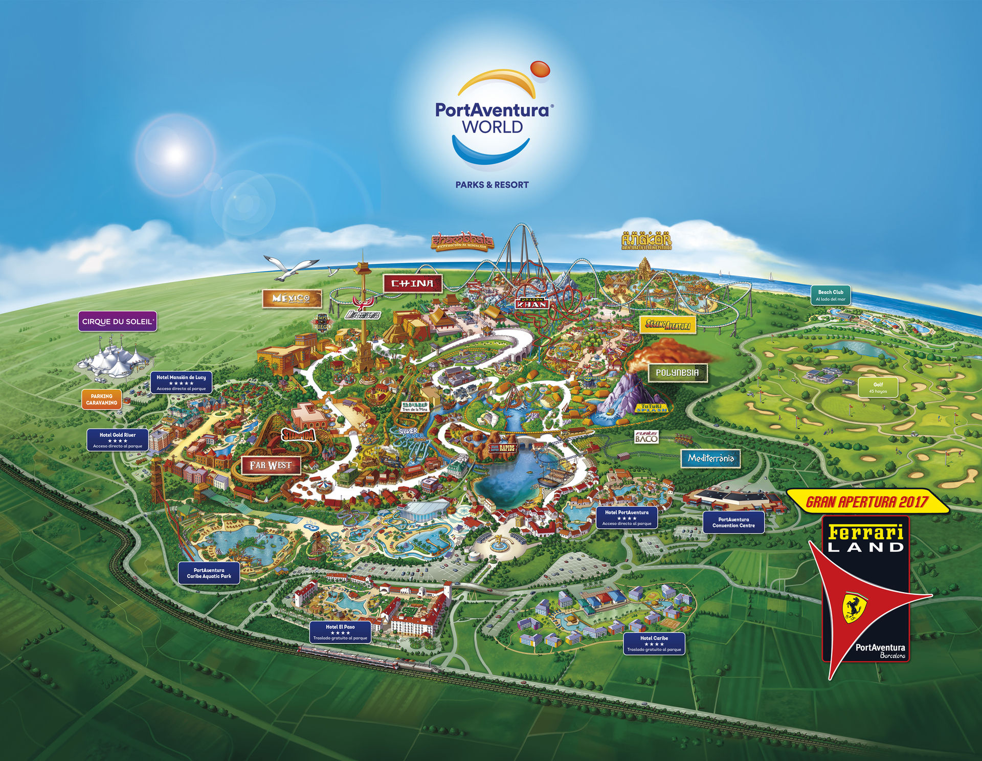 Mapa PortAventura Viajes Carrefour