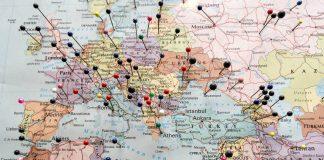 Regalar viaje, Mapa de Europa