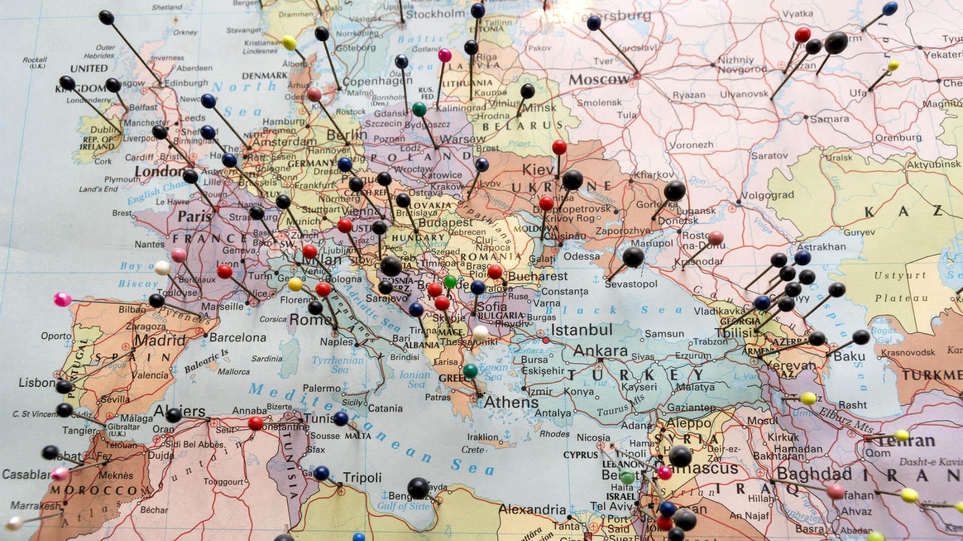 regalar viaje mapa europa