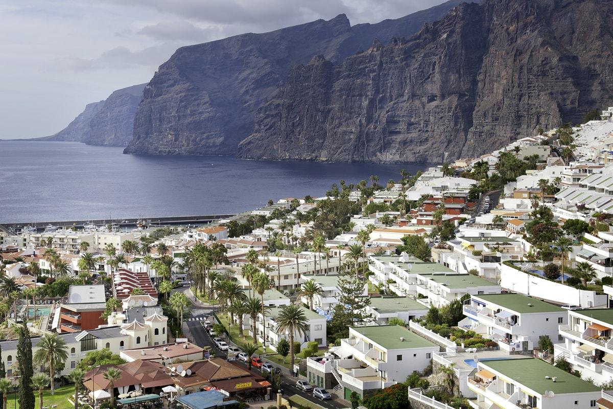 Acantilados gigantes de Tenerife