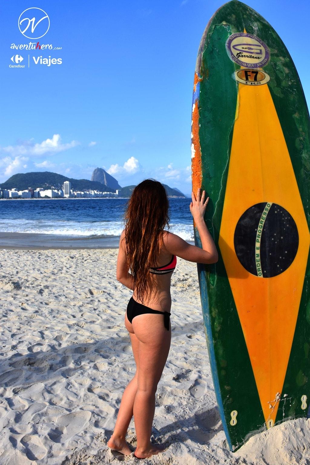 Sara en Copacabana