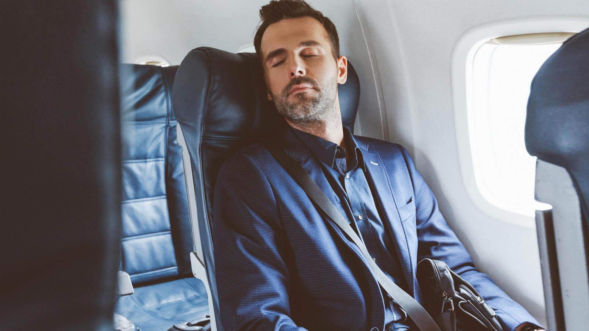 dormir en el avion empresario