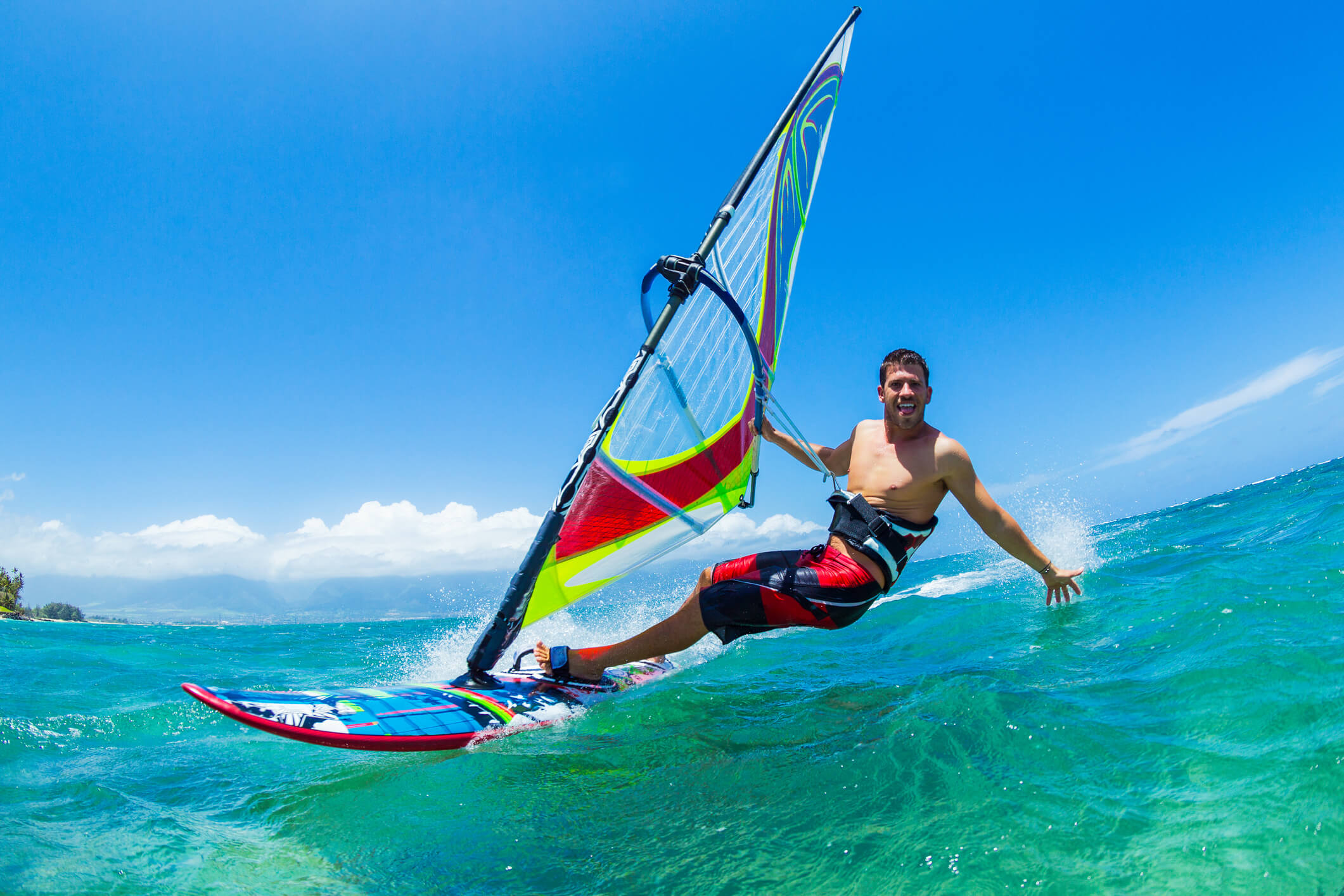vacaciones playa windsurf