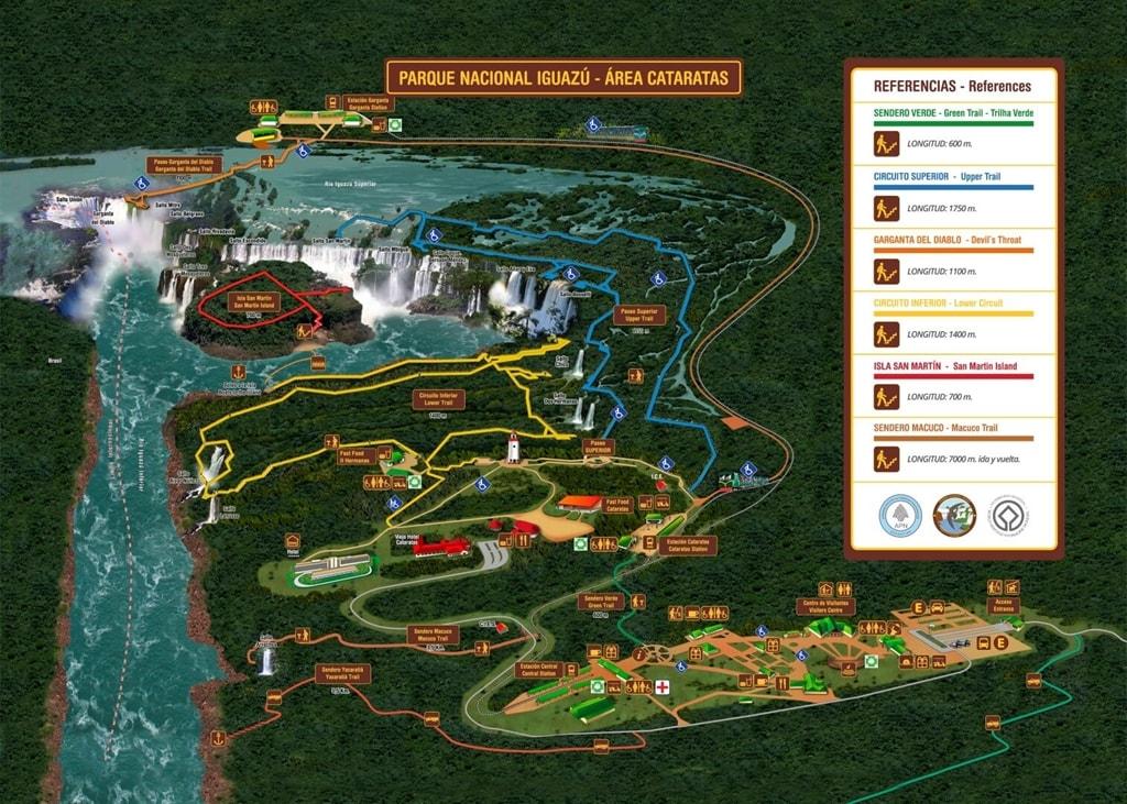 Mapa Iguazú