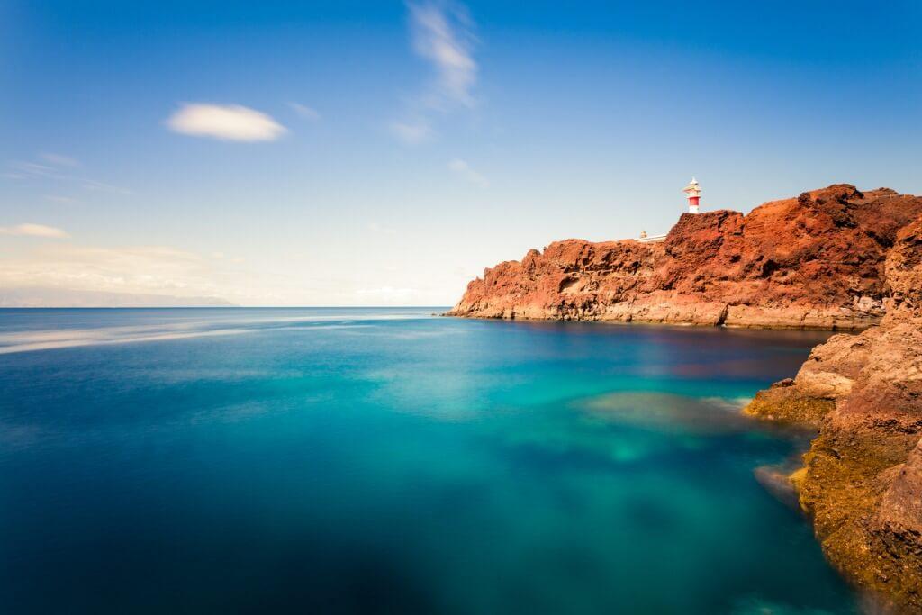 Mar y faro, La Palma