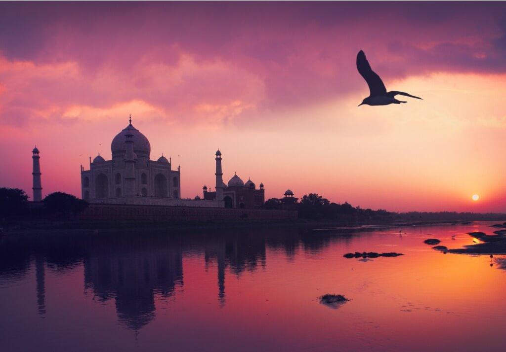Puesta de sol, India