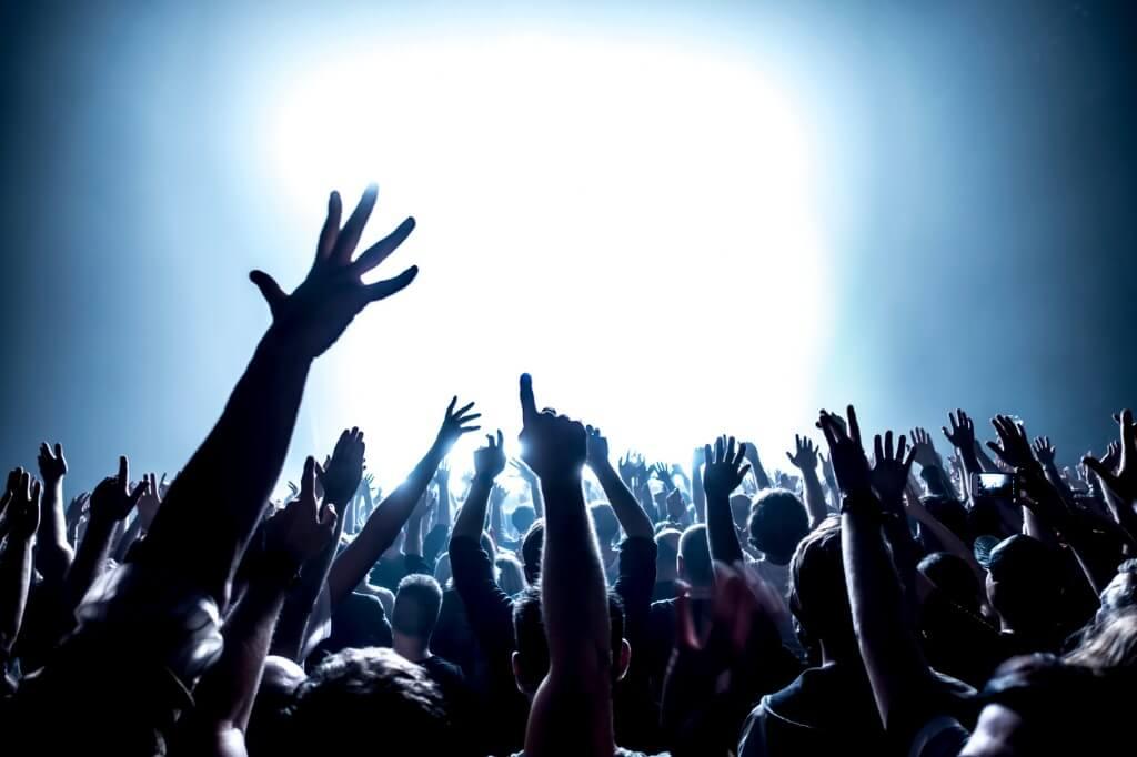Multitud en festival