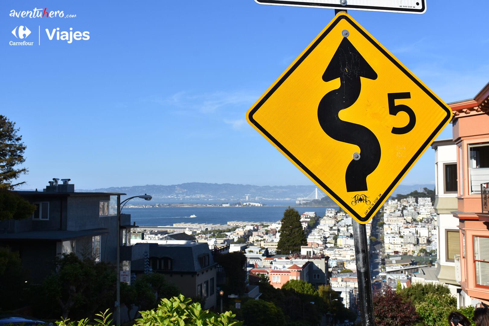 Carretera sinuosa San Francisco