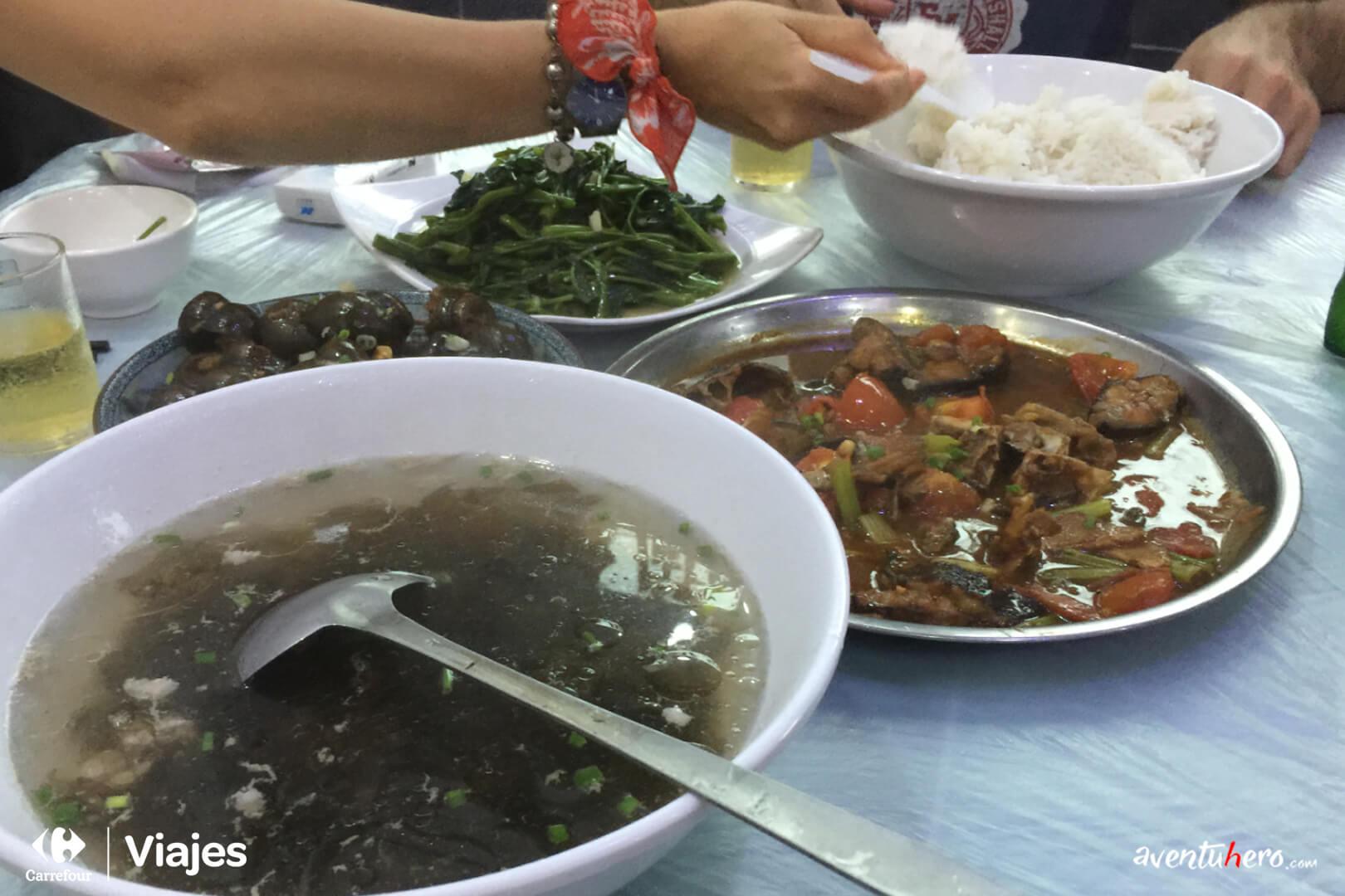 Comida típica en Chinatown