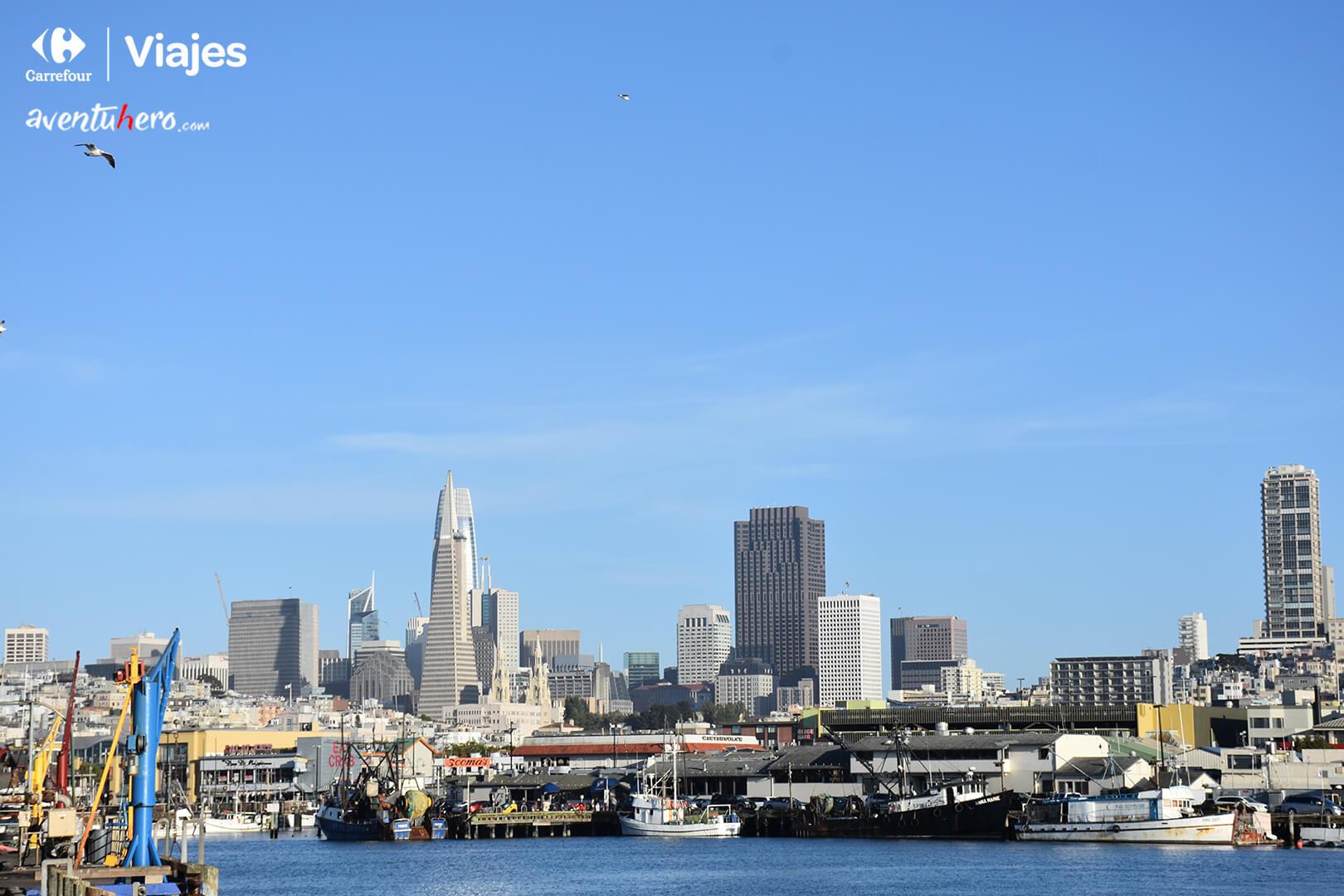 La ciudad de San Francisco desde el puerto