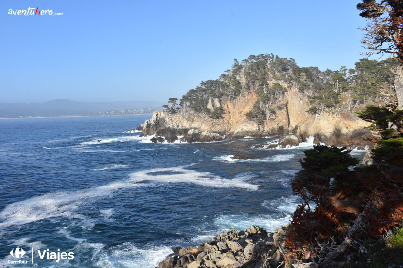 Vistas de la costa en Point Lobos