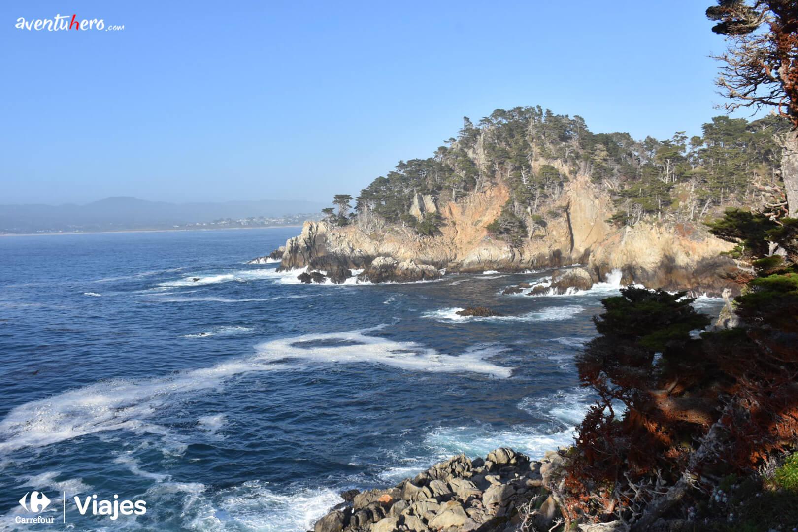Vistas de la costa en Point Lobos