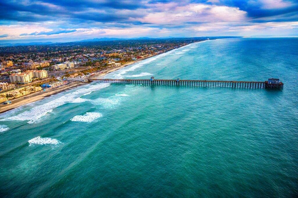 Vista aérea de California