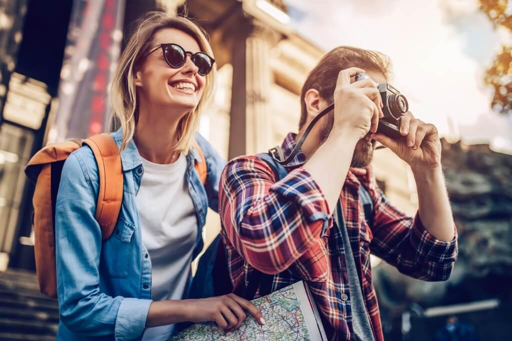 Pareja de turistas