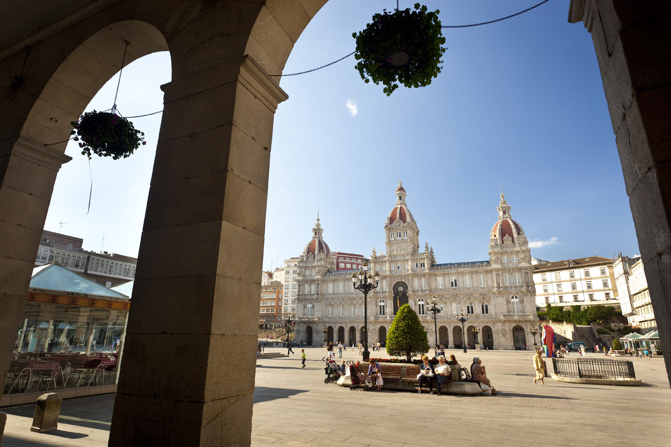 La Coruña; A Coruña. Plaza de María Pita - AyuntamientoLa Co