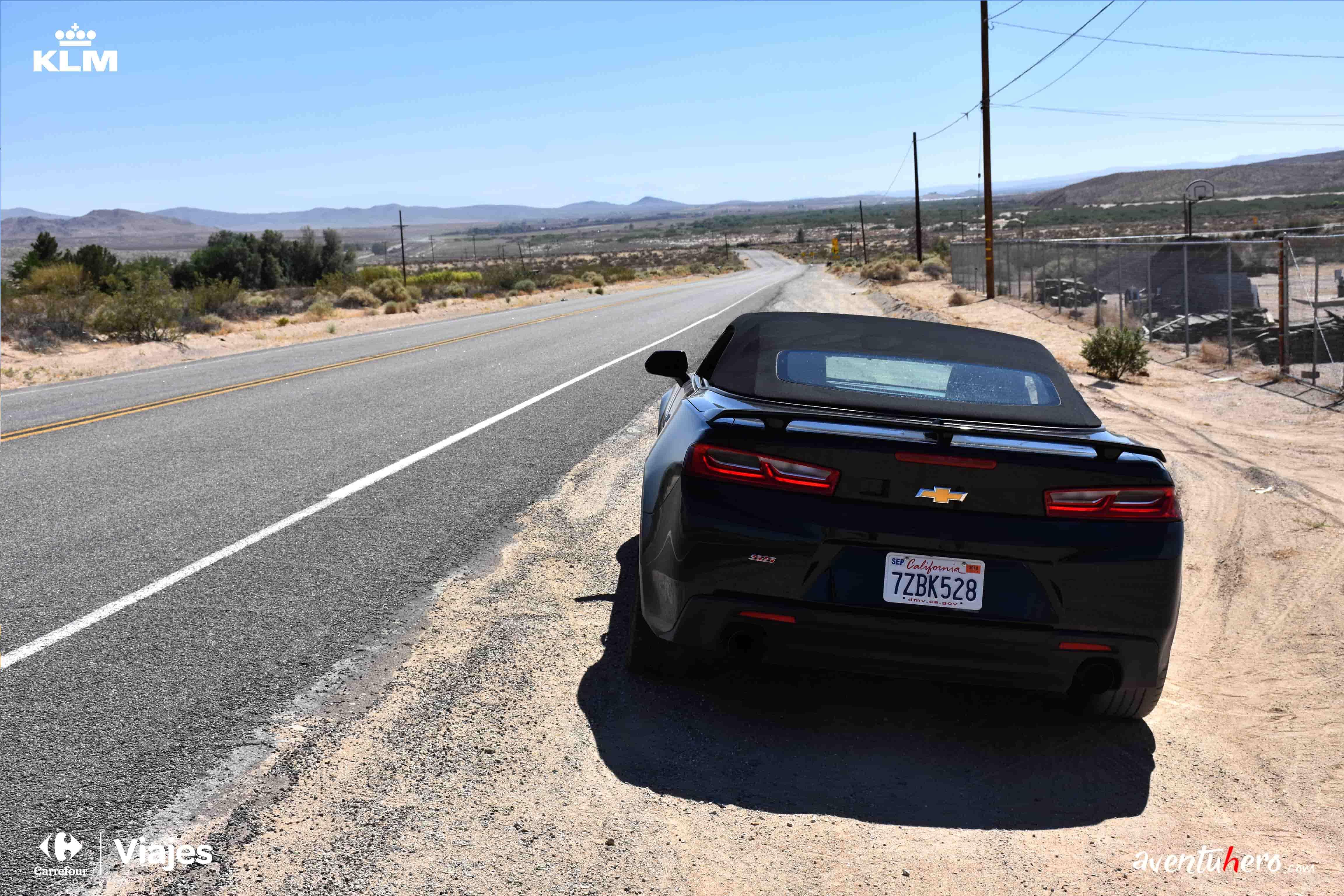 coche aparcado ruta 66