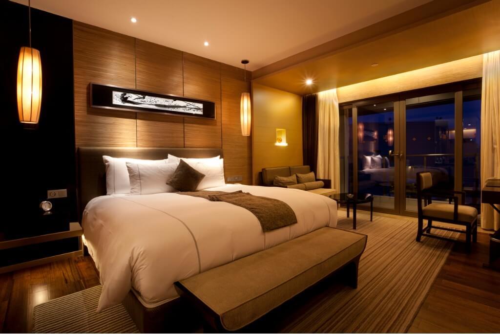 Interior habitación en un hotel de lujo