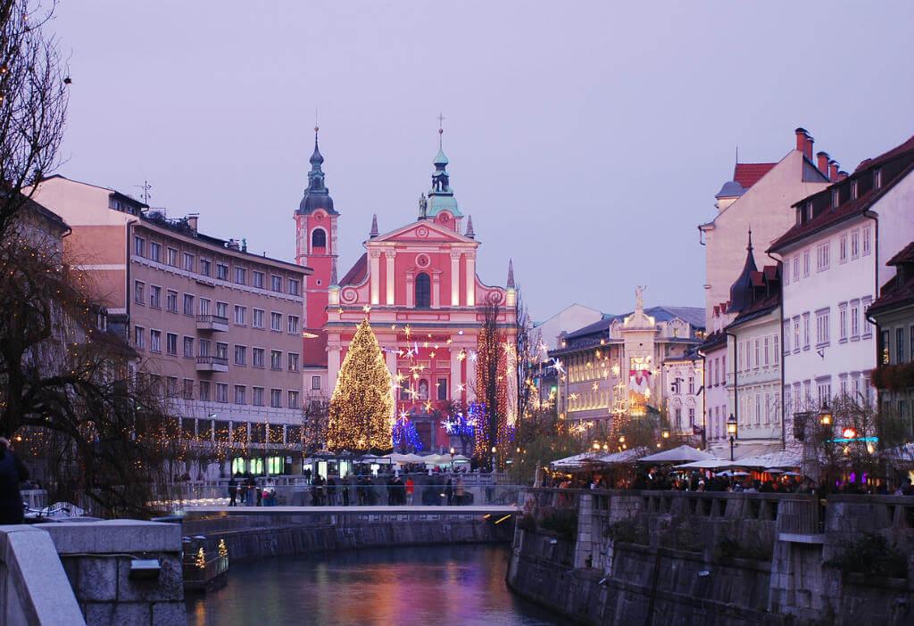 Mercadillo Navidad de Liubliana