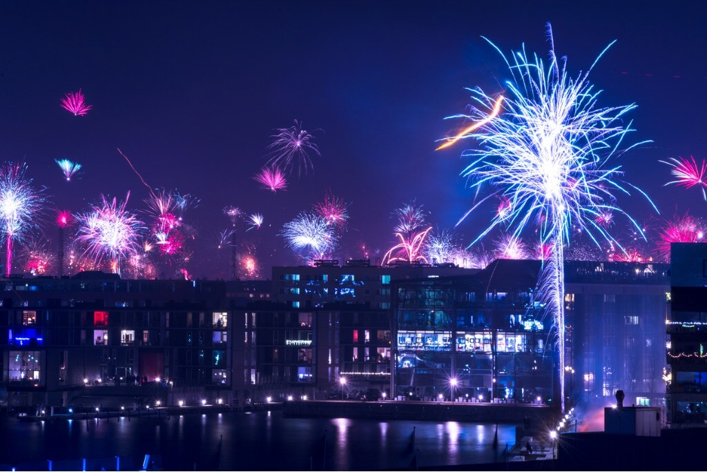 Fuegos artificiales en Copenhague
