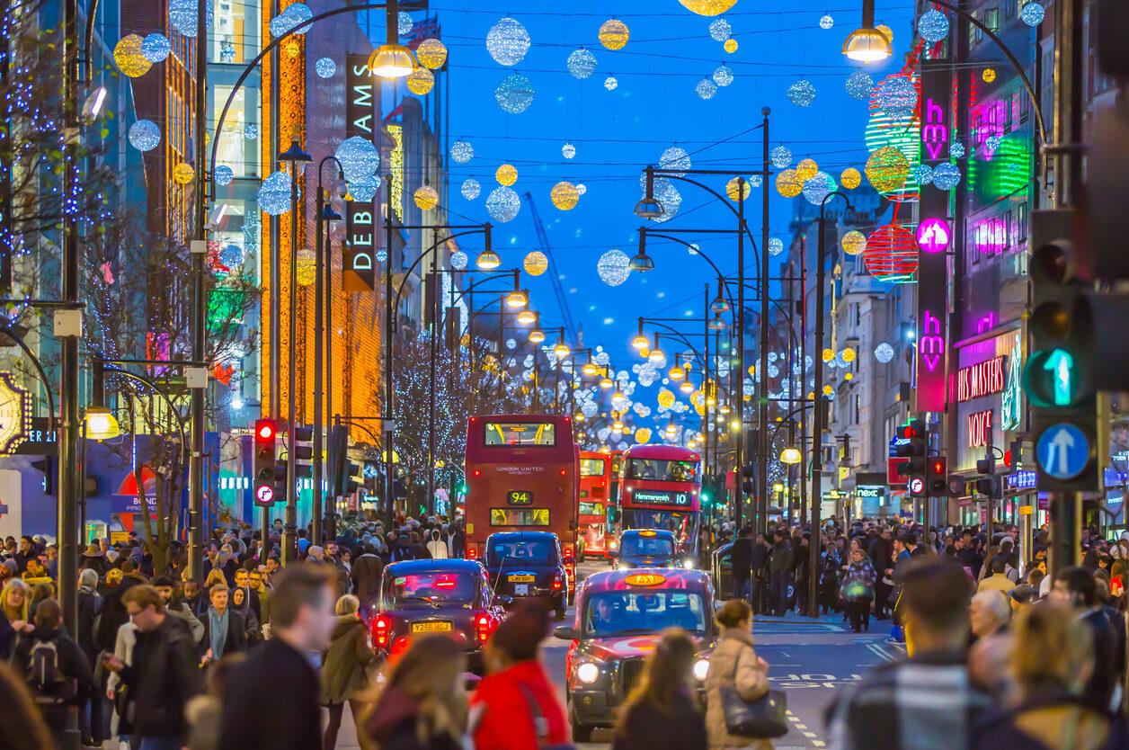 Oxford Street en Navidad