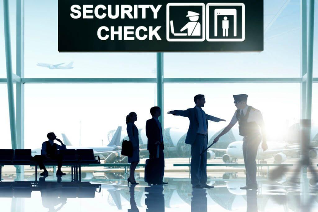 Control de seguridad en aeropuerto