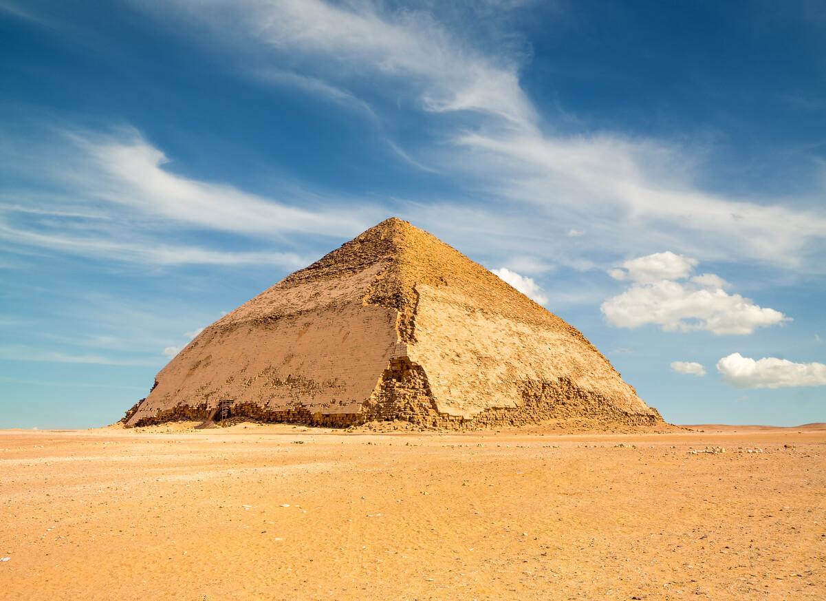 La famosa pirámide en Dahshur