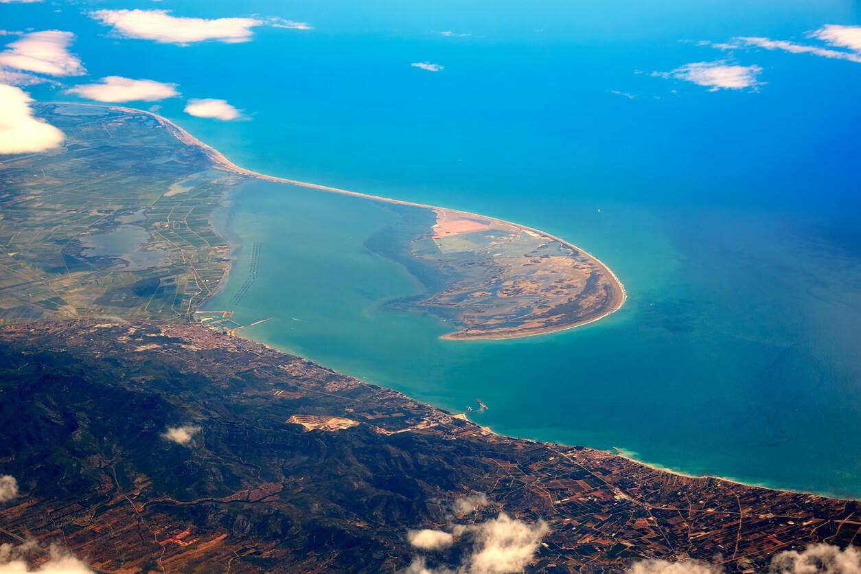 Deltebre aérea Delta Ebro en Tarragona