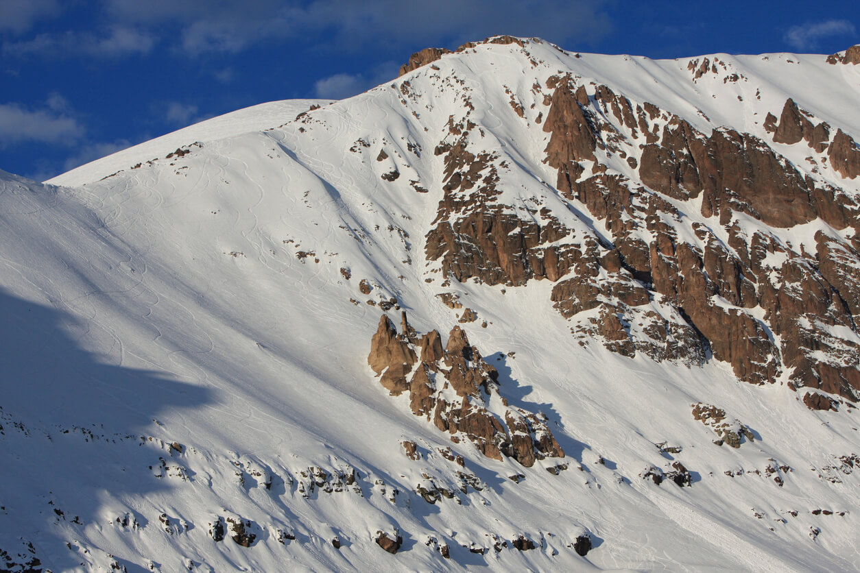 Farellones, Chile Andes Mountains Winter Landscape Near Valle Nevado