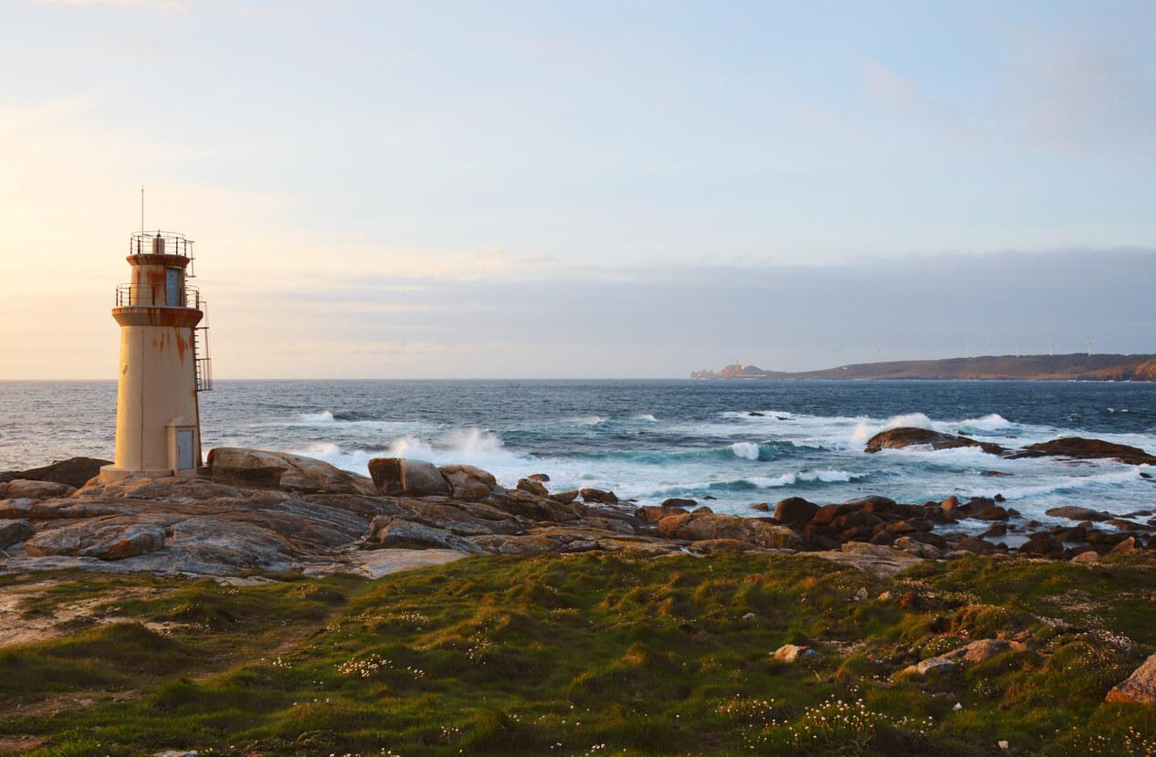 Lighthouse of Muxía, Costa da Morte in Galicia, Spain