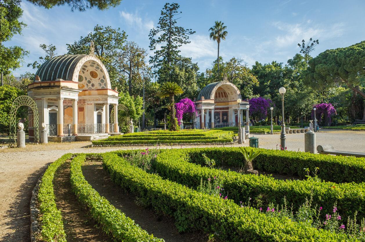 Parque Villa Giulia en Palermo; Italia