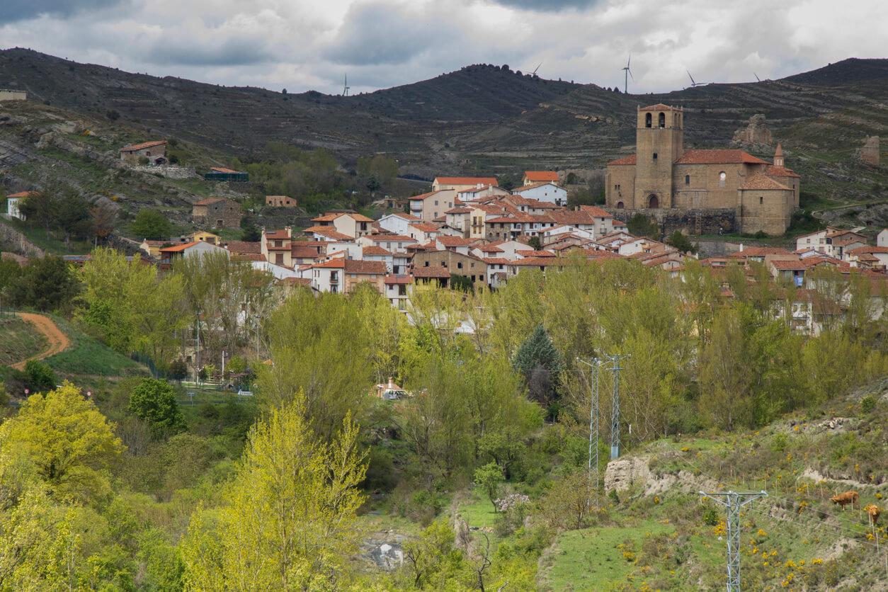 Pueblo de Enciso en la provincia de La Rioja, España