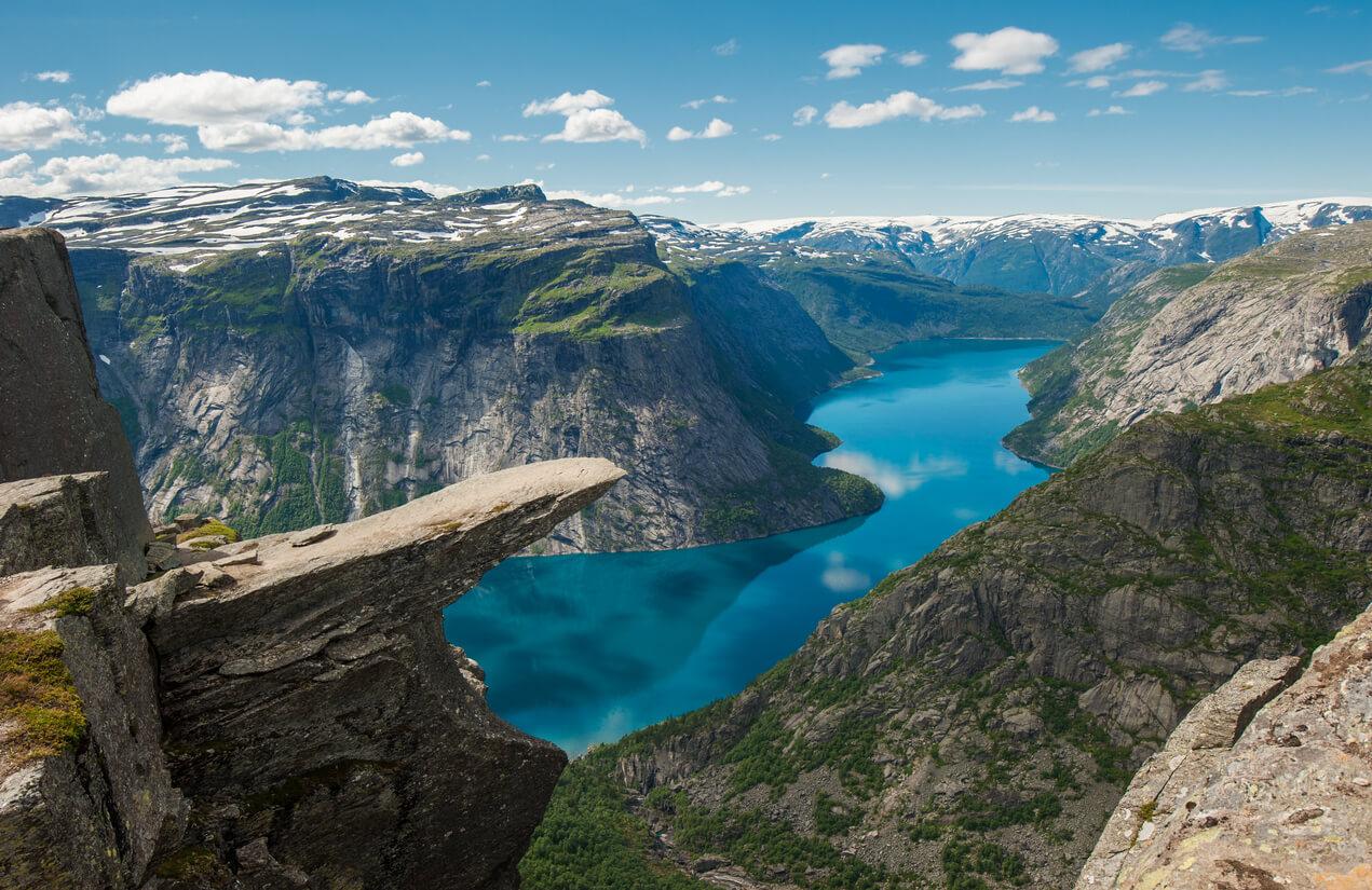 Troll Trolltunga, la lengua rock, Noruega