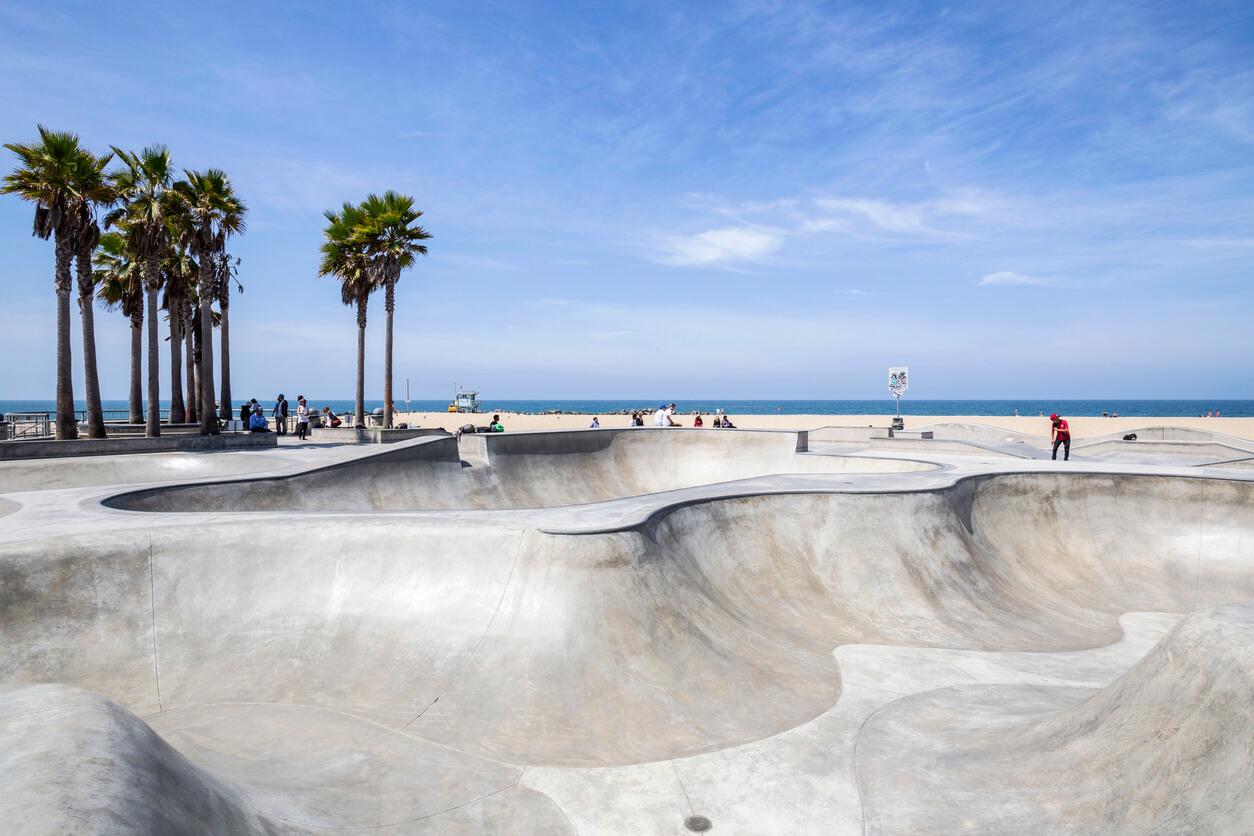 aVenice Beach parque de patinaje en Los Ángeles