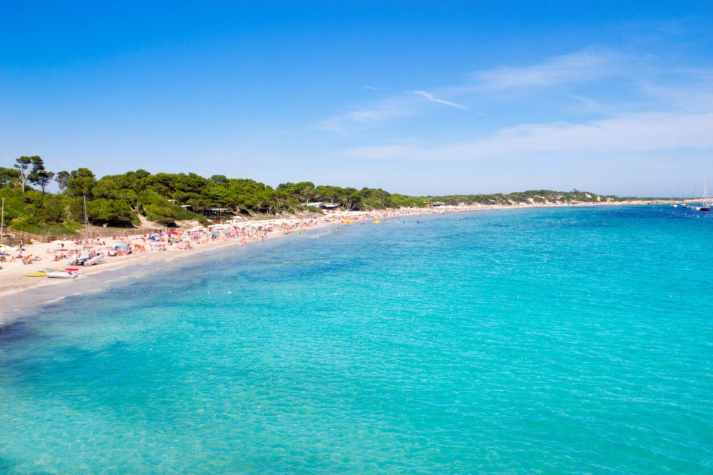 Ibiza Ses Salines south turquoise beach