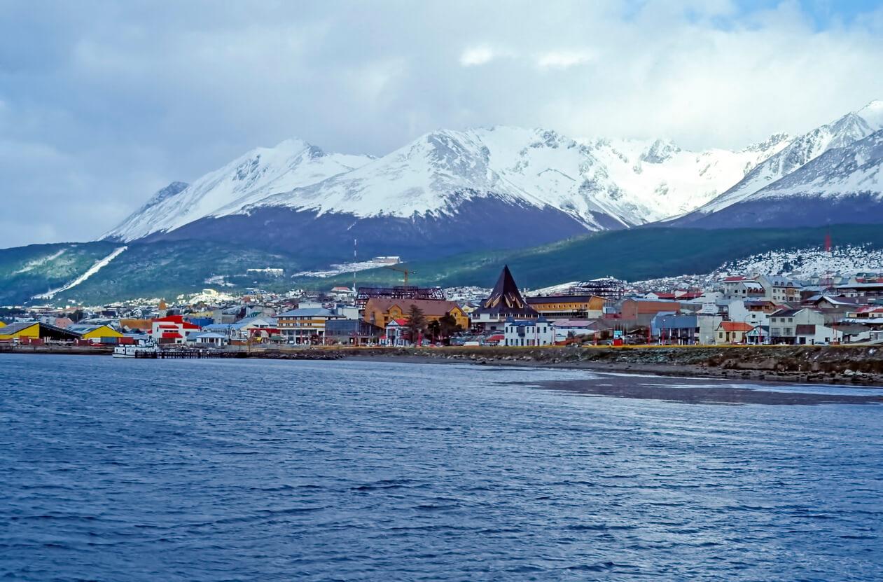 Vista en el centro de Ushuaia - Tierra del Fuego, Argentina