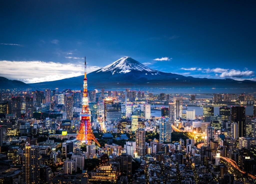 Tokyo y Monte Fuji al fondo