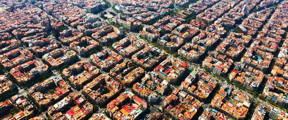 Guía Barcelona, Vista aérea de Barcelona