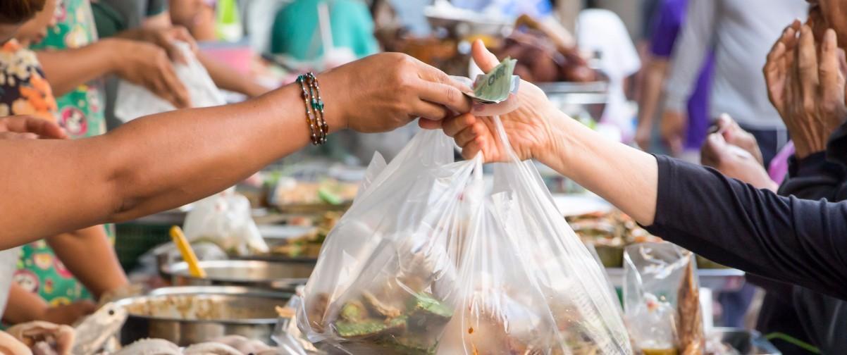 Guía Bangkok, Comida bolsas plástico, Bangkok