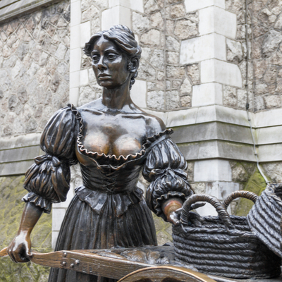 Guía Dublín, Estatua de Molly Malone