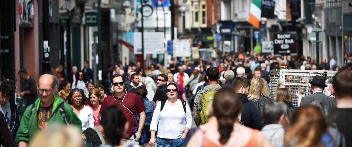 Guía Dublín, Grafton Street crowded