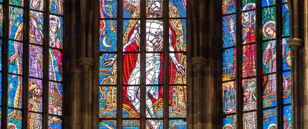Vidriera Alfons Mucha, Catedral San Vito