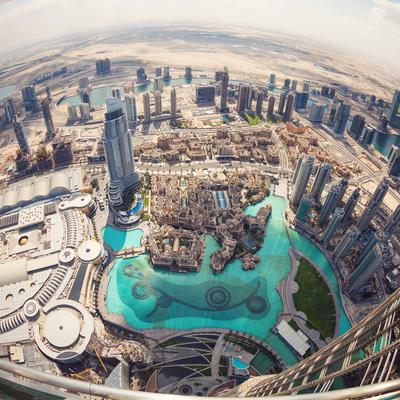 Guía Dubai, View from Burj Khalifa, Dubai