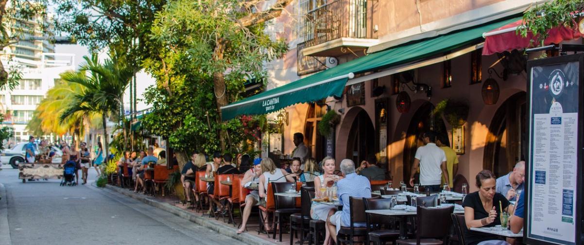 Guía Miami, Restaurante al aire libre
