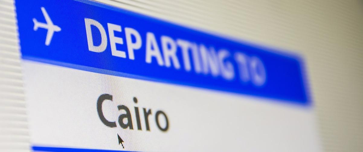 Guía El Cairo, Señalización aeropuerto