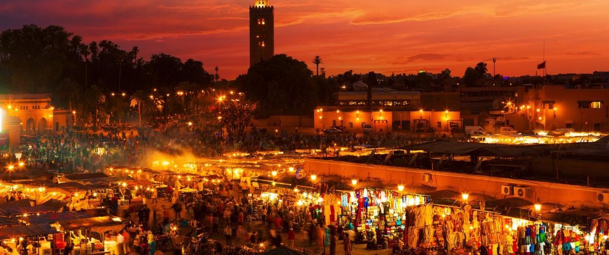 Guía Marrakech, Atardecer
