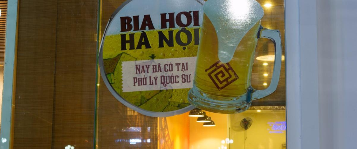 Guía Hanoi, Cerveza Bia Hoy