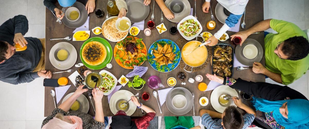 Familia celebrando Ramadán