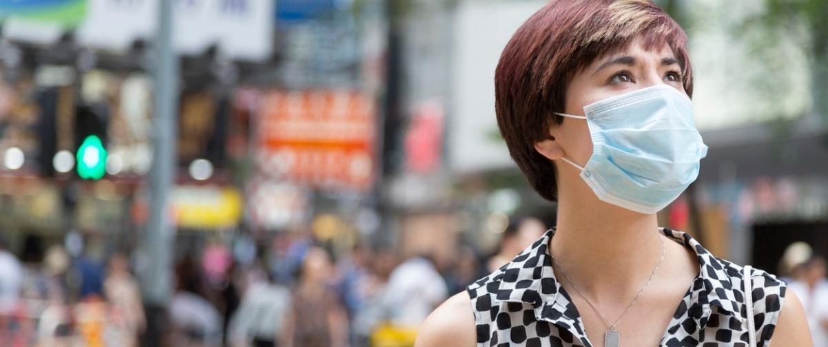 Guía Hong Kong, Chica con mascarilla